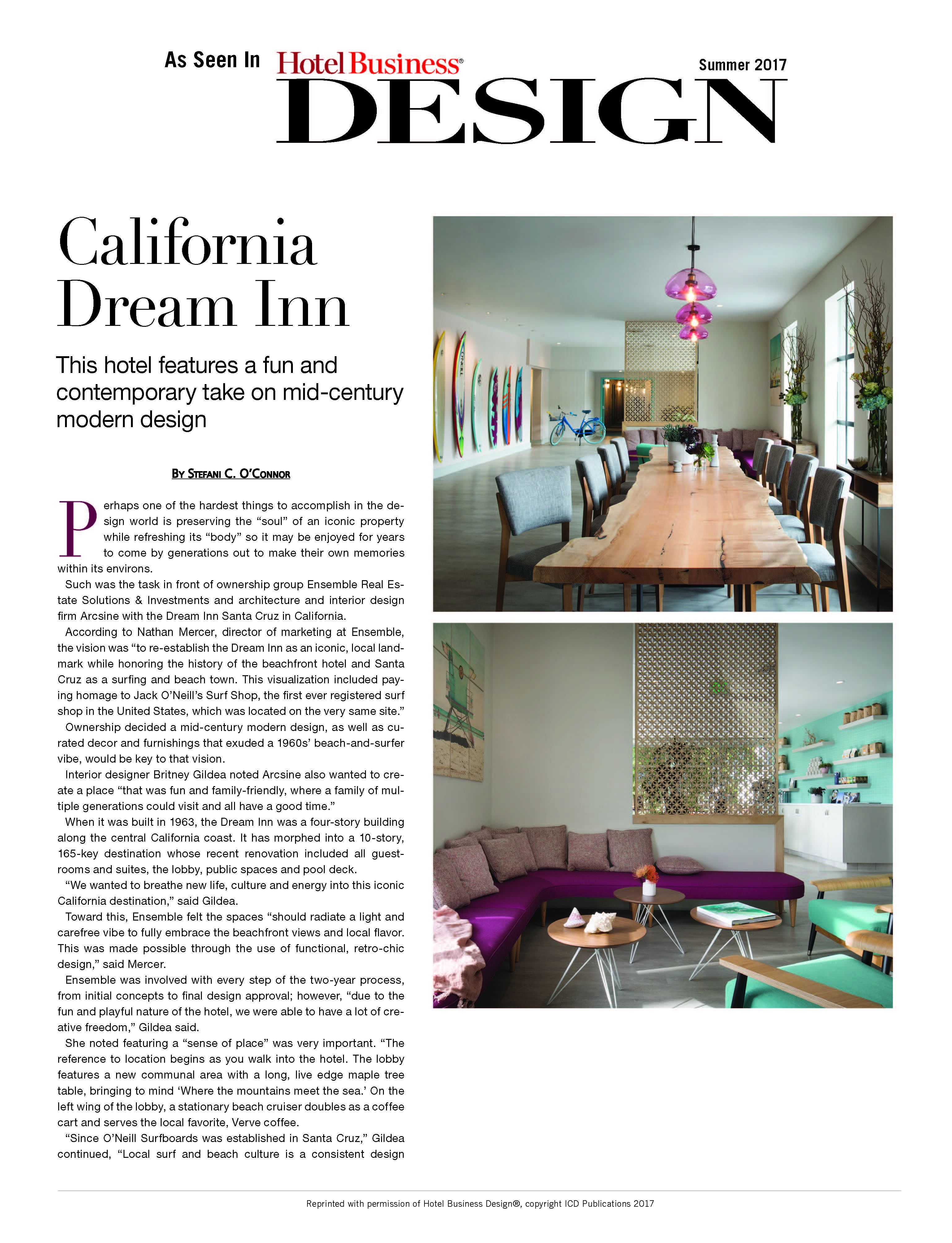 Dream Inn Hotel Business Design Page 1